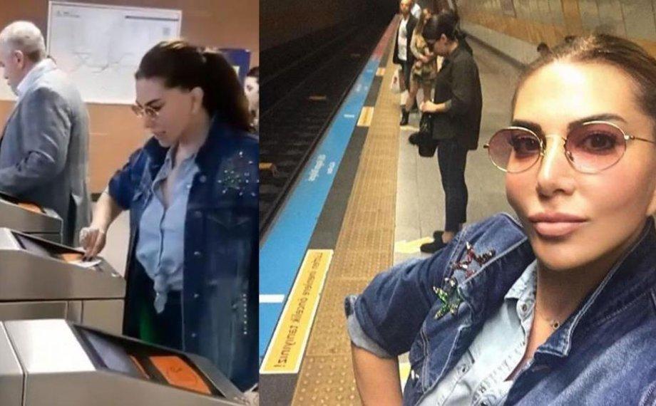 Ebru Yaşar Metroda!