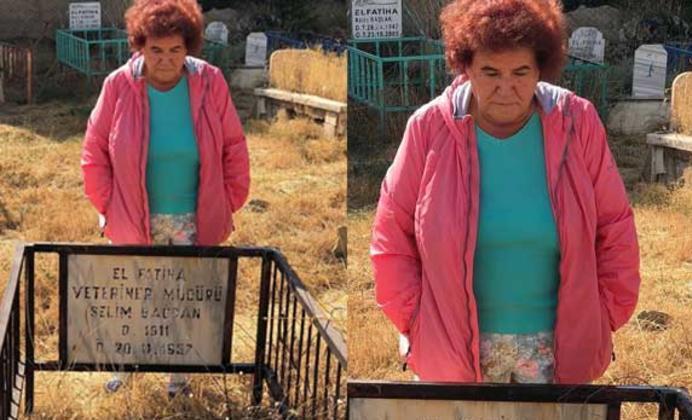 Selda Bağcan Babasının Mezarını Ziyaret Etti!