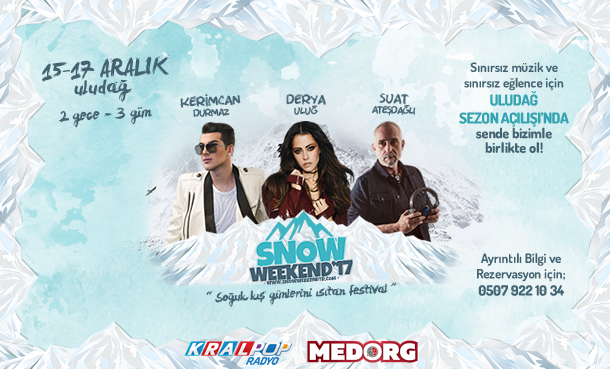 Uludağ Snow Weekend 15-17 Aralık'ta!