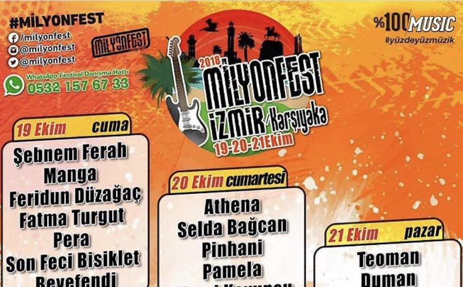 İzmir'in En Büyük Festivali Geliyor: MilyonFest İzmir!