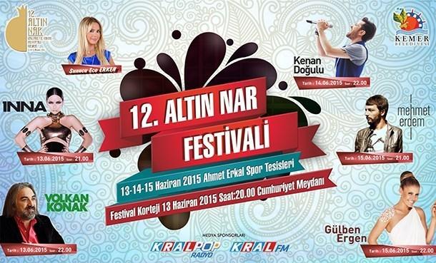 12.Altın Nar Festivali 13 Haziran'da Başlıyor!