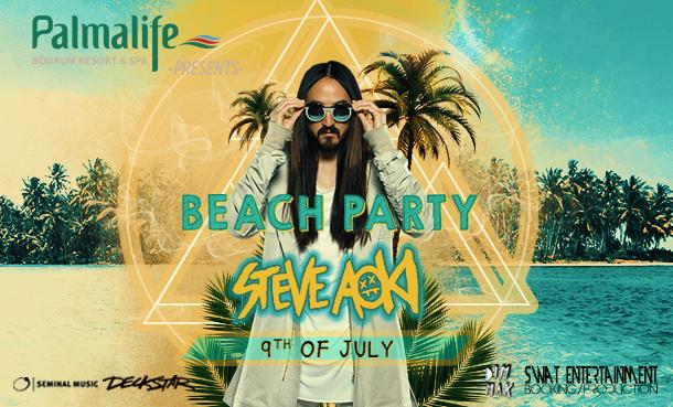 Palmalife Bodrum Beach Party Serisi Steve Aoki ile Devam Ediyor!
