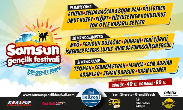 Samsun Gençlik Festivali 19 Mayıs'ta Başlıyor!