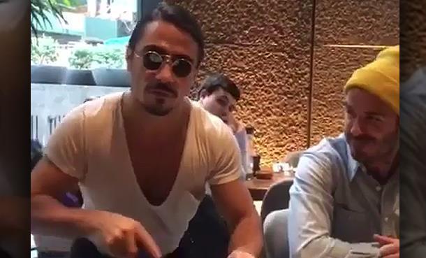 Nusr-et şov yaptı, David Beckham instagram'dan paylaştı!