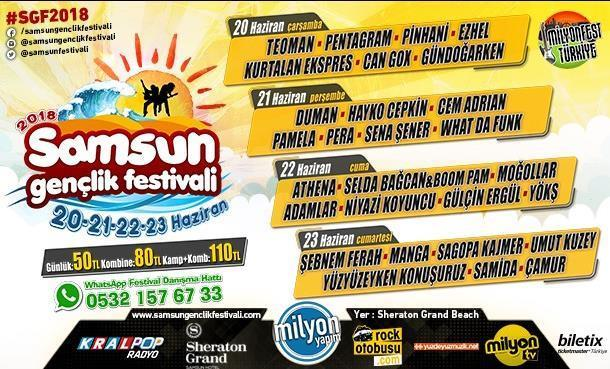 Samsun Gençlik Festivali 20 Haziran'da Başlıyor!